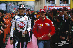 Jenson Button and Michael Schumacher