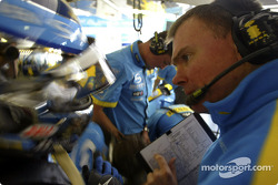 Jarno Trulli and race engineer Alan Permane