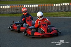 Karting at Kerpen: Rubens Barrichello and Michael Schumacher