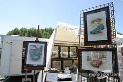 Art vendors at scrutineering