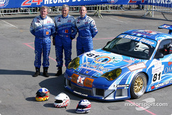 The Racers Group Porsche 911 GT3 RSR with drivers Ian Donaldson, Gregor Fisken, Lars Erik Nielsen