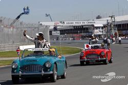 Jenson Button en el desfile de pilotos