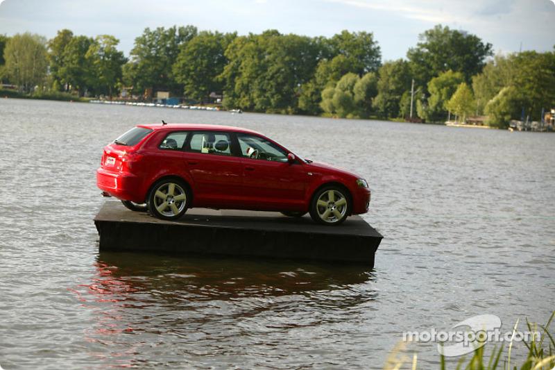 A floating Audi A3 Sportback