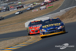 Kurt Busch leads Jeff Gordon