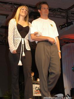 Vanessa Morgan (Mark Taylor's fiancee) and Panther Racing general manager Doug Boles