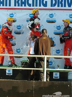 Owen Kelly, Andrew Jones and Luke Youlden celebrate
