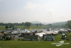 Overview of the ALMS paddock at Lime Rock Park