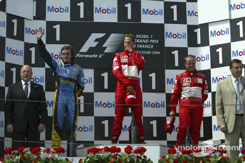Em 2004, ainda na Renault, conquistou quatro pódios, incluindo o segundo lugar no GP da França