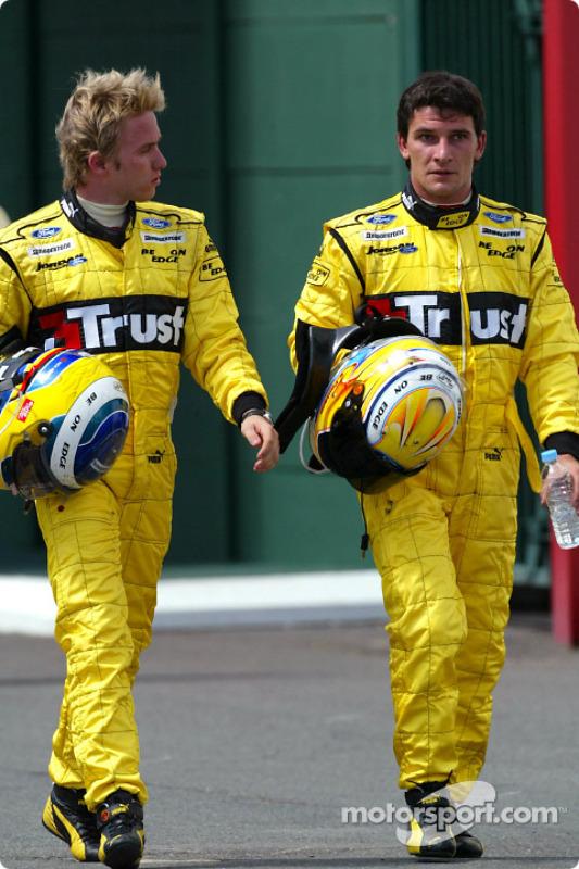 Nick Heidfeld et Giorgio Pantano