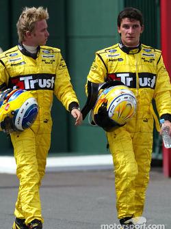 Nick Heidfeld and Giorgio Pantano