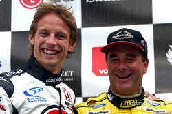 Jenson Button and Nigel Mansell
