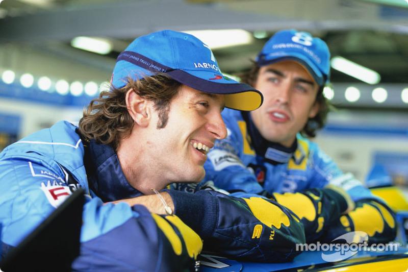 2003 и 2004 годы: Ярно Трулли, Renault. Весь сезон-2003 и с 1 по 15 Гран При сезона-2004