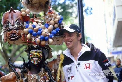 Jenson Button visits South Africa