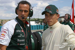 Christian Klien on the starting grid