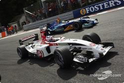Jenson Button et Felipe Massa