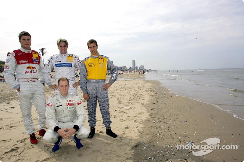 Martin Tomczyk, Christijan Albers, Jeroen Bleekemolen and Charles Zwolsman (F3 Euroserie)