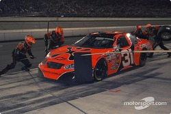 After a late caution Robby Gordon's crew gets him four quick tires