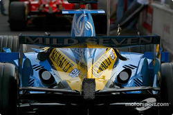 Renault F1 in technical inspection line