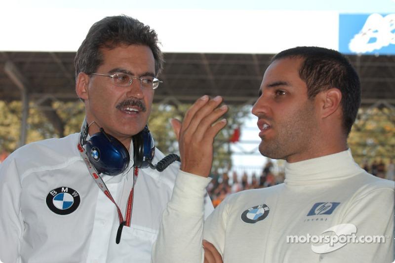 El Dr Mario Theissen y Juan Pablo Montoya