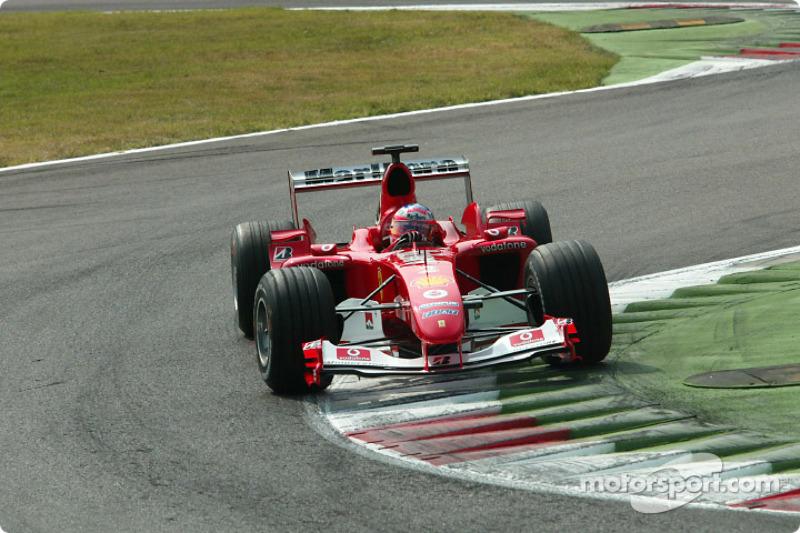 2º Rubens Barrichello, Ferrari F2004; Monza 2004: 260,395 km/h