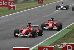 Rubens Barrichello leads Michael Schumacher