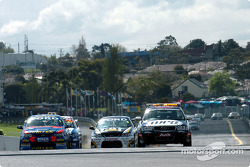 The safety car came out for the first of many times during the race