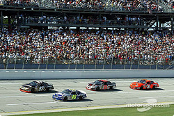 Kurt Busch, Jimmie Johnson, Kevin Harvick and Robby Gordon