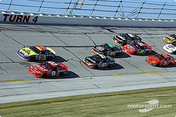 Kurt Busch and Jeff Burton lead the pack