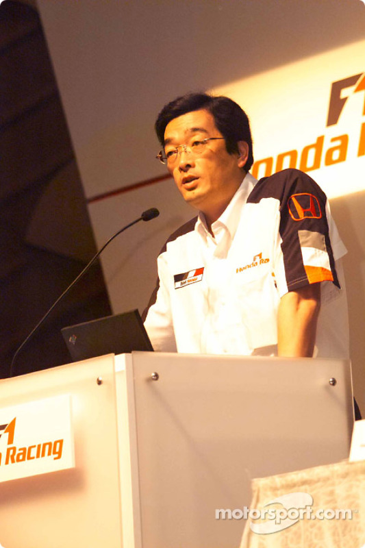 Conférence de presse Honda Racing : Takeo Kiuchi