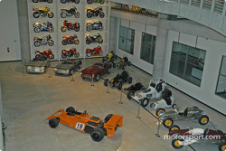 Cars in workshop area