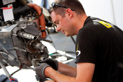 A Dams mechanic at work