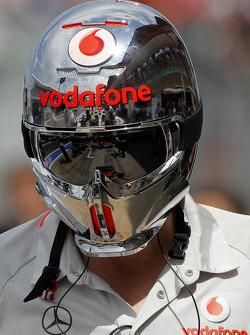 Reflection of Jenson Button, McLaren Mercedes