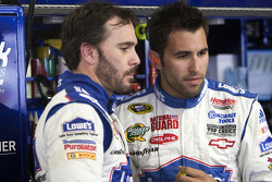 Jimmie Johnson, Hendrick Motorsports Chevrolet and Aric Almirola