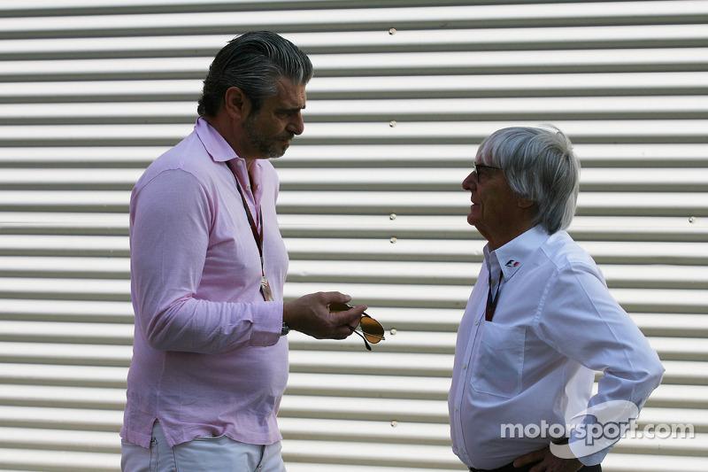 Maurizio Arrivabene Marlboro Europe Brand Manager en Bernie Ecclestone