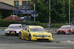 David Coulthard, Mücke Motorsport, AMG Mercedes C-Klasse en Martin Tomczyk, Audi Sport Team Abt Audi A4 DTM