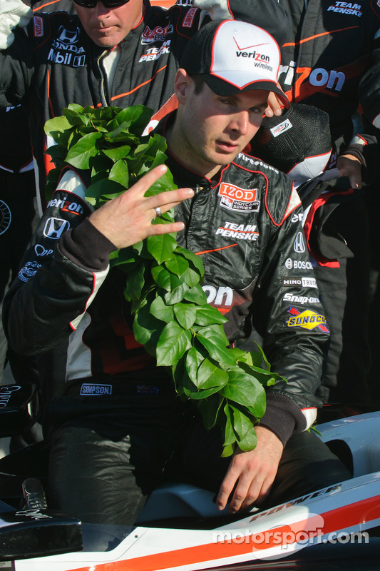 Victory lane: race winnaar Will Power, Team Penske