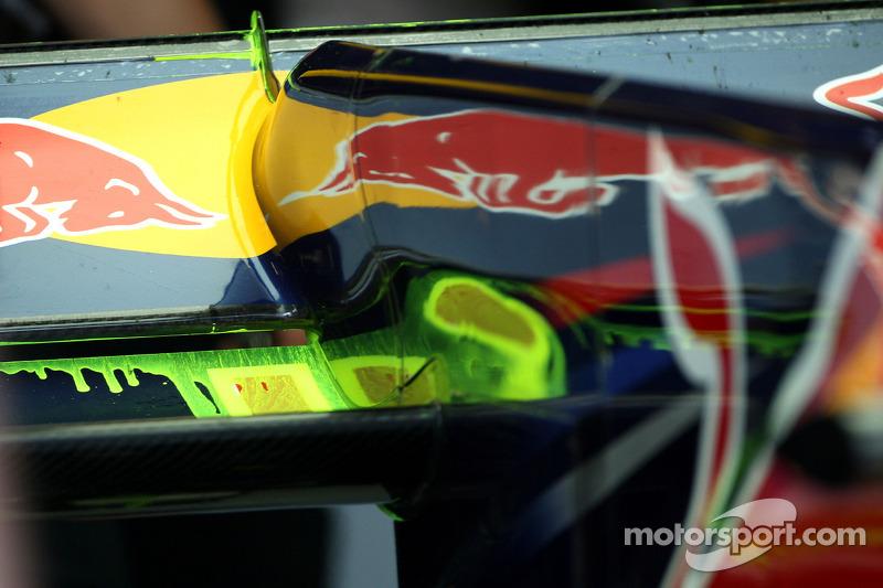 Red Bull Racing met flow-vis verf