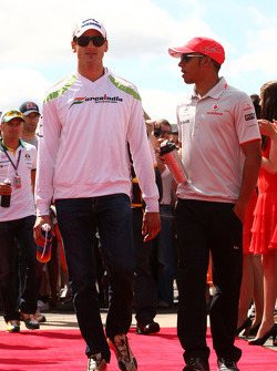 Adrian Sutil, Force India F1 Team, Lewis Hamilton, McLaren Mercedes