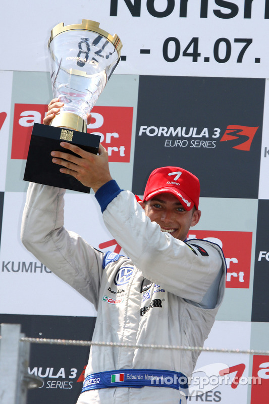 Race winnaar Edoardo Mortara, Signature Dallara F308 Volkswagen