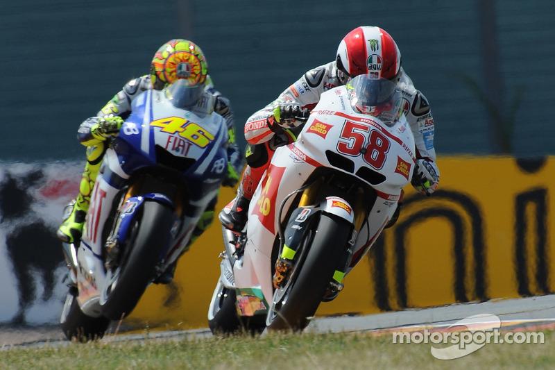 Suivi de près par Rossi