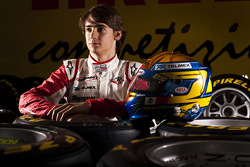 Esteban Gutierrez winner of race 7 in the GP3 series at Silverstone