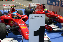 Race winner Fernando Alonso, Scuderia Ferrari and second place Felipe Massa, Scuderia Ferrari