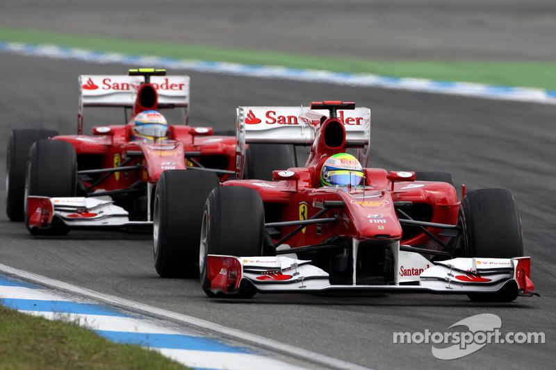 Felipe Massa, Scuderia Ferrari and Fernando Alonso, Scuderia Ferrari