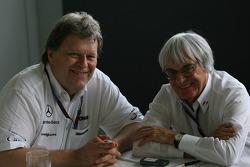 Norbert Haug, Mercedes, Motorsport chief and Bernie Ecclestone interview