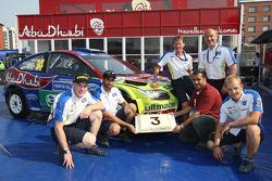 The BP Ford Abu Dhabi World Rally Team celebrates the 3rd year of Abu Dhabi Sponsorship