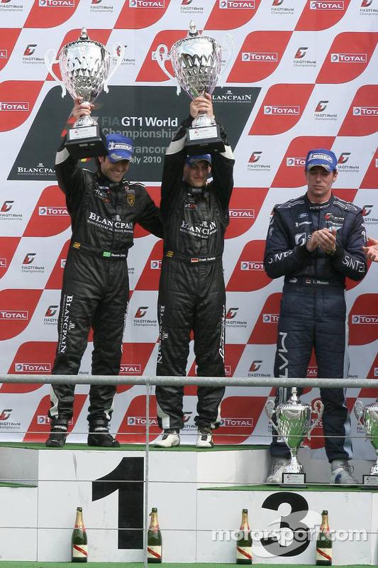 Podium: race winnaars Ricardo Zonta en Frank Kechele