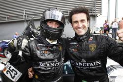Race winners Ricardo Zonta and Frank Kechele celebrate