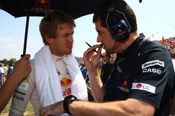 Sebastian Vettel, Red Bull Racing and Guillaume Rocquelin his engineer