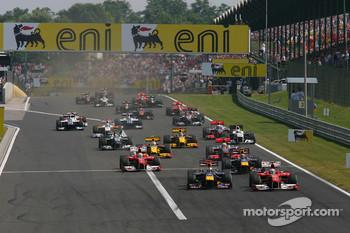 The start of last year's Hungarian Grand Prix