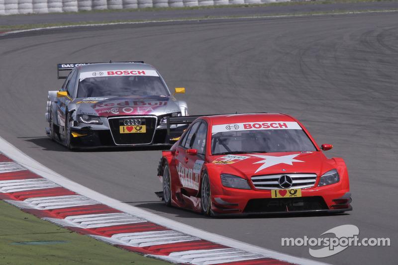 Congfu Cheng, Persson Motorsport, AMG Mercedes C-Klasse en Martin Tomczyk, Audi Sport Team Abt Audi A4 DTM